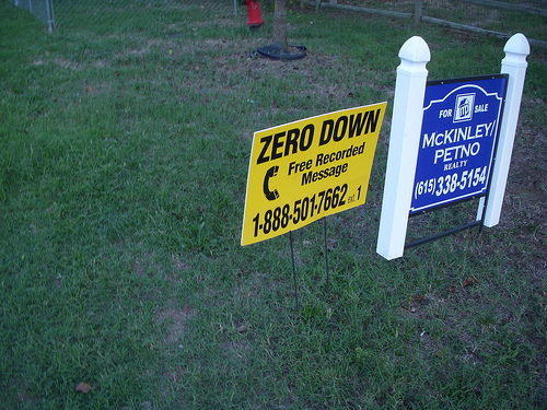 Mortgage broker zero down