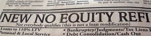 no equity refinance