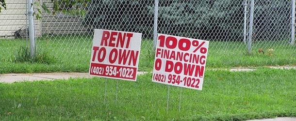 rent buy sign