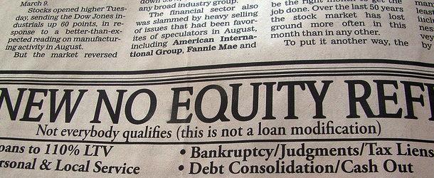 no equity refi