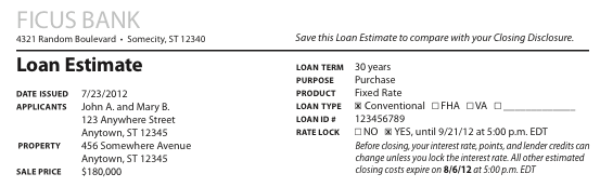 Loan Estimate Form