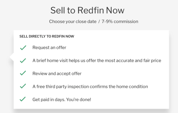 sell to Redfin Now